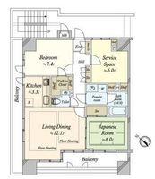 間取図/区画図:お部屋の間取り図