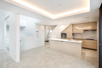 施工例:「リビング施工イメージ」リビング20帖・アイランドキッチン・吹き抜け天井など拘りの空間設計が可能です