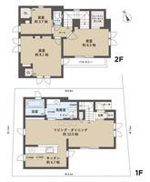 間取図/区画図:1階LDK・水廻配置の間取りレイアウト