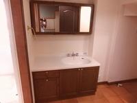 洗面室:ワイドカウンターの洗面化粧台